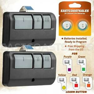 2 For Chamberlain LiftMaster Garage Door Opener Remote 893LM 953EV P2 Learn $19.75