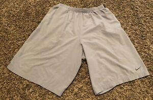 Men's Nike Running Gray Shorts Pants Clothes Size Small 8 Inch Inseam $8.00