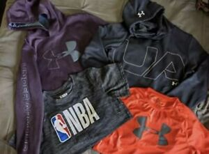Boys Under Armour Lot Shirt Hoodie NBA T shirt Size Youth Large and Youth XL $20.00