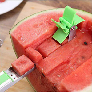 US Watermelon Slicer Stainless Steel Cutter Knife Fruit Cantaloupe Cut Tool