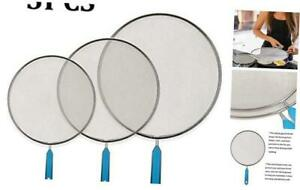 Grease Splatter Screen for Frying Pan - Cooking Guard Fine Mesh Iron Skillet Lid