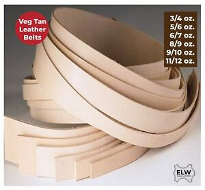 Veg Tan Tooling Cow Leather Belt Blank Strip Strap 3 4 5 6 8 9 9 10 11 12 OZ