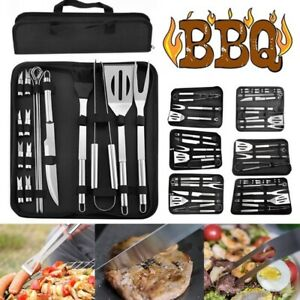 3/5/7/9/16/18/20 Pcs/Set Stainless Steel Barbecue Tool Grill Utensil Accessories