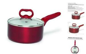 Ecolution Bliss Ceramic Nonstick Saucepan with Lid - 2 Quart - Induction Stainle