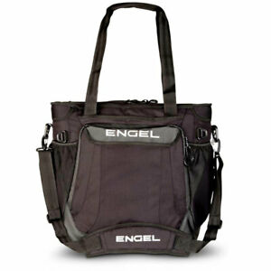 Engel ENGCB2-BLACK 23 Quart Insulated Water Resistant Backpack Cooler Bag, Black