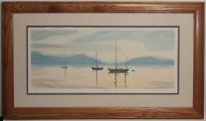 Original Limited Edition Lithograph Serenity by S. Bloom $65.00