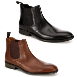 Franco Fortini Mens Trevor Chelsea Leather Ankle Boot Shoes $34.99