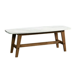 Soft Modern Faux Marble Top Coffee Table