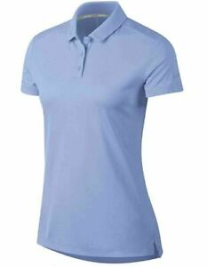 NIKE Dry Fit Polo Golf Shirt Light Blue 884871 450 Women's Size Small MSRP $55 $29.99