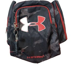 Under Armour Storm 1 Backpack Red Black Gray $24.00