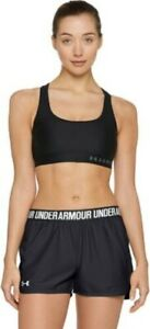 Under Armour Women's Play Up Shorts Black White Logo Med & Large sz available $14.95
