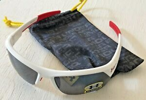 NEW UNDER ARMOUR SUNGLASSES IGNITER 11 RED & WHITE W GREY LENSES NEVER WORN $49.99