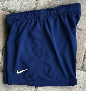 Nike Dri Fit Running Shorts Women's XS Navy Blue Athletic Training Not Lined $9.00
