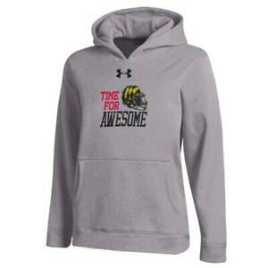 Youth Heather Gray University of Maryland Terps Under Armour Hoodie $32.95