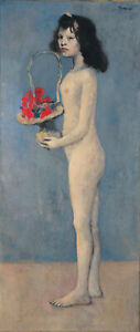 Young Naked Girl amp;Flower Basket 1905 Signed Picasso 17quot;x22quot; Fine Art Print 00529 $79.99