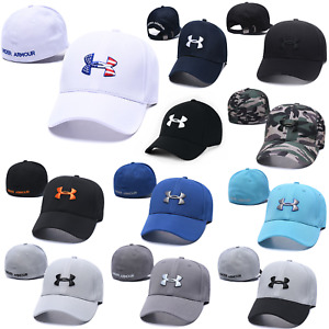 Embroidered Adjustable Under Armour Comfy Fit Golf Baseball Cap Unisex Sun Hat $12.99