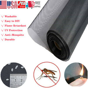 Shatex Black Roll Insect Mosquito Fly Bug Window amp; Door Mesh ScreenVarious Size