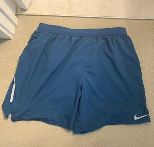"Nike Men's Flex Stride 7"" Brief Lined Running Shorts Teal Men's Large $30.00"