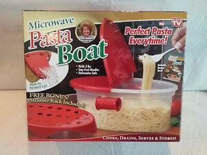 Microwave PASTA BOAT by Telebrands As Seen On TV Perfect Pasta New In Box