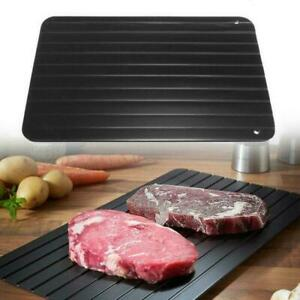 RAPID DEFROSTING TRAY FAST THAW BOARD DEFROST MEAT FROZEN FOOD NON STICK PLATE