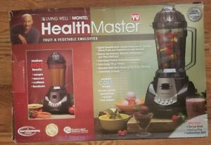 HealthMaster Living Well Montel 1200W Pro Blender Food Processor YD2088E NEW!