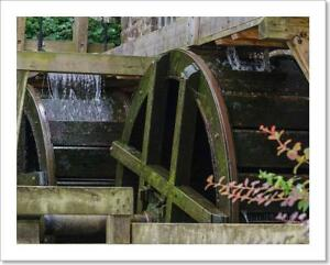 Restored Mill Wheel Of Art Print / Canvas Print. Poster, Wall Art, Home Decor