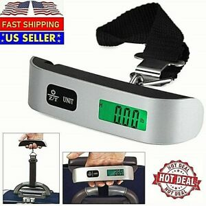 Handheld Portable Electronic Digital Luggage Scale Hanging Travel 110 LBS 50 KG $7.35