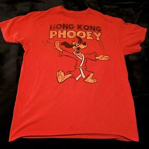Hanna Barbera Hong Kong Phooey Distressed Phooey Chopping Under Logo Size 5XL $12.00