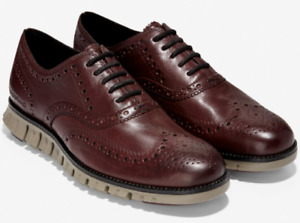 Cole Haan ZeroGrand Wingtip Oxford C30279 Burnished Wine Leather Sizes 8 12 $136.99