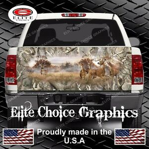 Whitetail Buck Deer Camo Truck Tailgate Wrap Vinyl Graphic Decal Wrap