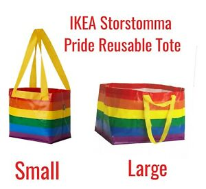 IKEA Storstomma Small or Large Pride Bag Rainbow Reusable Shopping Tote LGBT