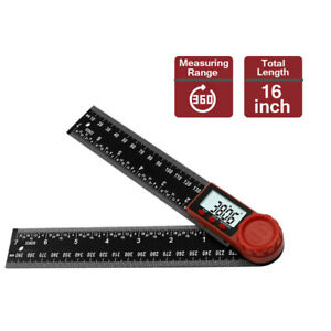 2 in 1 Electronic LCD Digital Protractor Angle Finder 8quot; Ruler Woodworking Tool $18.27