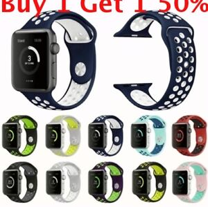 For Apple Watch Sport Silicone iWatch Strap Band SERIES 5 4 3 2 40 44MM 38 42mm $8.49