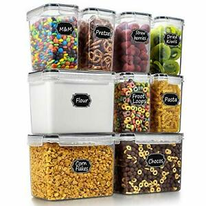 Airtight Food Storage Containers Cereal & Dry Food Storage Container Set Of 9