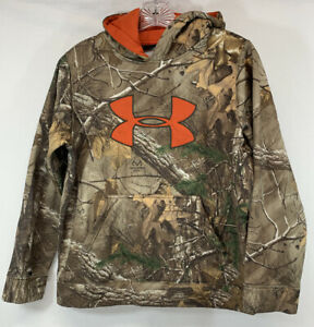 Under Armour Real Tree Camouflage Hoodie Loose Youth Large $14.25