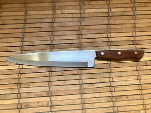 Vintage MAXUM STEEL Precision Hollow Ground Chef's Knife 9