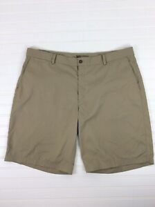 Nike Dri Fit Golf Shorts Beige Tan Khaki Flat Front Mens 40 $18.25