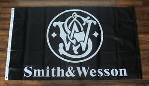 Smith & Wesson Banner Flag 2nd Amendment Gun Rights NRA Pistol Rifle 3x5 New