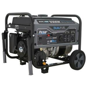 Pulsar 6500 Peak 5500 Rated Watt Dual Fuel Gas LPG Portable Generator RV Ready