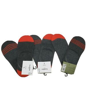 Goodfellow amp; Co Mens Liner Socks 6 Pack Charcoal Gray Red No Show Shoe Size 7 12 $14.99