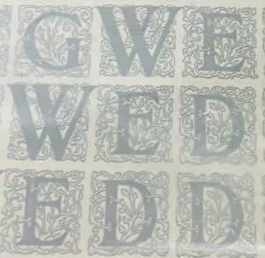 Wedding Silver White Gift Wrap 8 Sheets Vintage Artfaire Flat Wrapping Paper