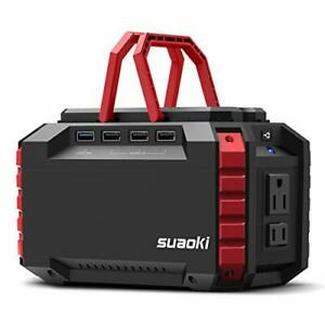 SUAOKI Portable Power Station 150Wh Camping Generator Lithium Power Supply wi...