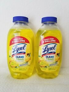 Lysol 2 PK Clean Fresh Multi Surface Cleaner Disinfectant Sanitizer 10.75 oz ea