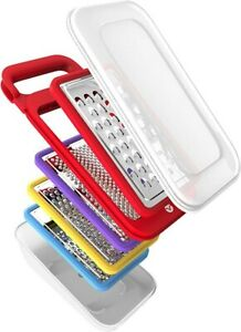 Vremi Cheese Grater Set with Container - 4 Interchangeable Graters included
