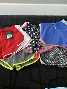 Girls Nike Dri Fit Lined Running Shorts. Size M Lot Of 5 Two NWT $27.00