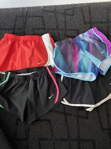 Girls Nike Dri Fit Lined Running Shorts. Size S. LOT of 4 $12.50