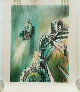 Francis Caldwell East West Bound Lithograph Signed $47.00