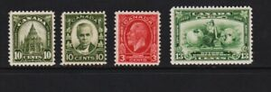 Canada 4 Mint, NH stamps, cat. $ 66.80