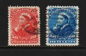 Canada #46 47 VF Used, cat. $ 210.00
