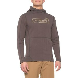 NEW Men's Under Armour Rival Fleece Hunt Icon Hoodie Size Small Brown Hunting $1.25